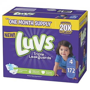 ihocon: Luvs Ultra Leakguards Disposable Baby Diapers, Size 4, 172 Count嬰兒尿片