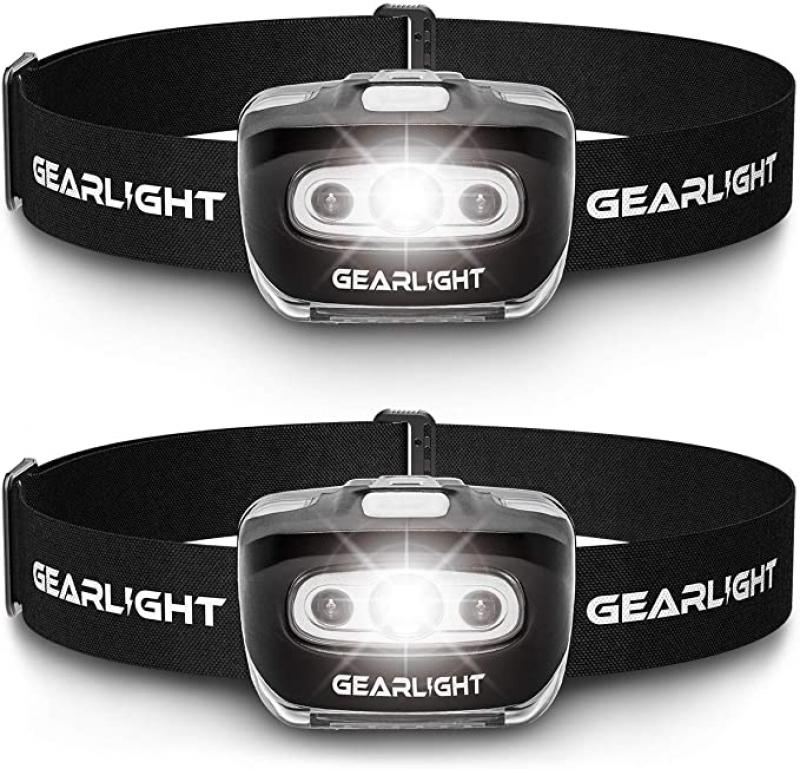 ihocon: GearLight LED Headlamp Flashlight S500 [2 PACK] 頭燈