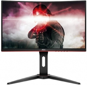 ihocon: AOC C24G1 24吋 Curved Frameless Gaming Monitor, FHD 1080p, 1500R VA panel, 1ms 144Hz, FreeSync, Height adjustable, VESA, 3-Year Zero Dead Pixels 曲型無框遊戲電腦螢幕