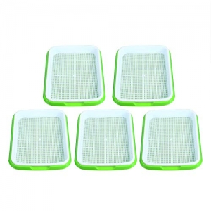 ihocon: [在家孵豆芽] Homend Seed Sprouter Tray, 5 Pack 芽菜盤