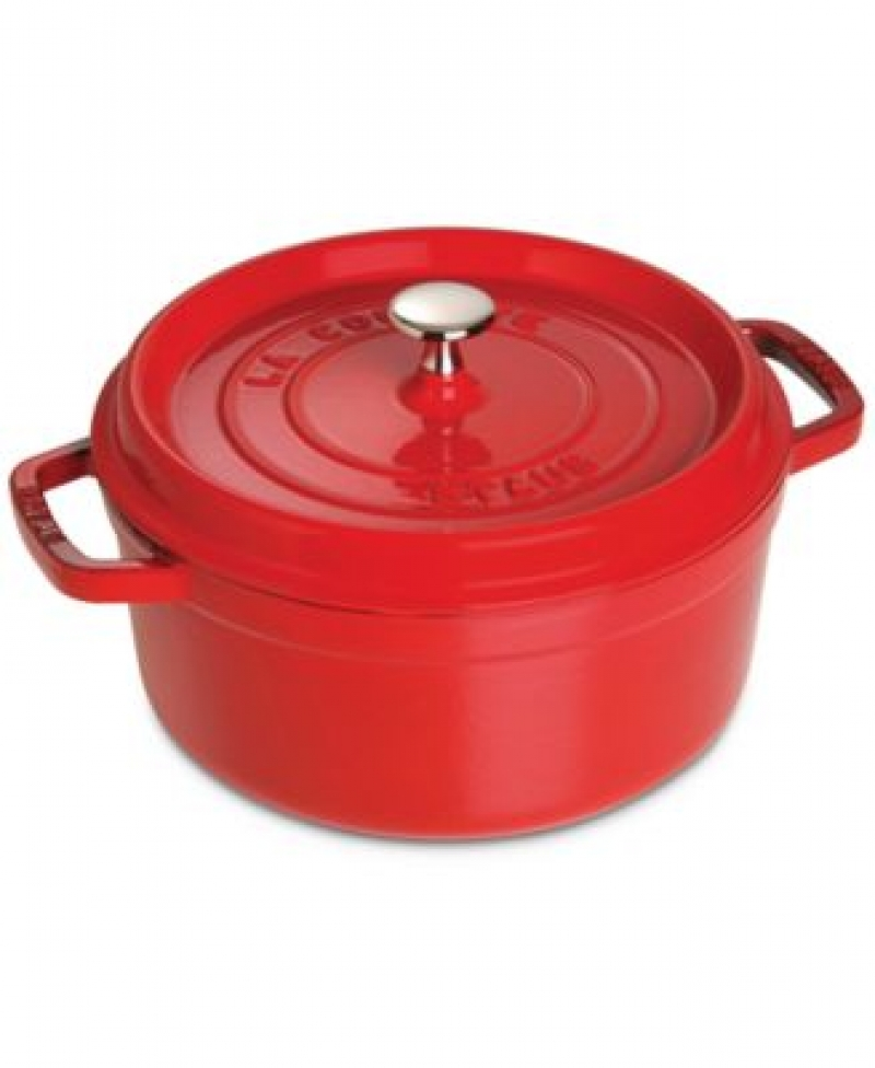 ihocon: Staub Enameled Cast Iron 4-Qt. Round Cocotte 搪瓷鑄鐵鍋