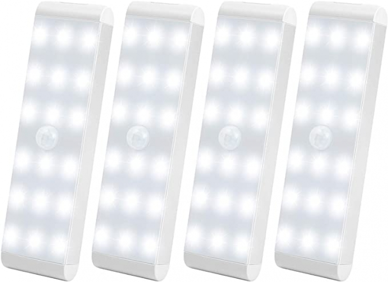ihocon: LightBiz LED Rechargeable Motion Sensor Closet Light with 600mAh Battery (4 Packs) 充電式動作應2應櫥櫃燈