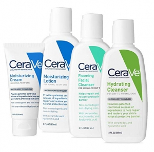 ihocon: CeraVe Travel Size Toiletries Skin Care Set | Contains CeraVe Moisturizing Cream, Lotion, Foaming Face Wash, and Hydrating Face Wash | Fragrance Free 旅行組(保濕霜,乳液,泡沫洗面乳及保濕潔面乳)