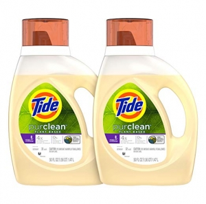 ihocon: Tide Purclean Plant-Based Laundry Detergent Liquid, Honey Lavender Scent, 50 oz, Pack of 2, 64 Loads Total洗衣精