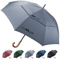 ihocon: Prospo Wooden Handle Hook Golf Umbrella 62吋 高爾夫大傘