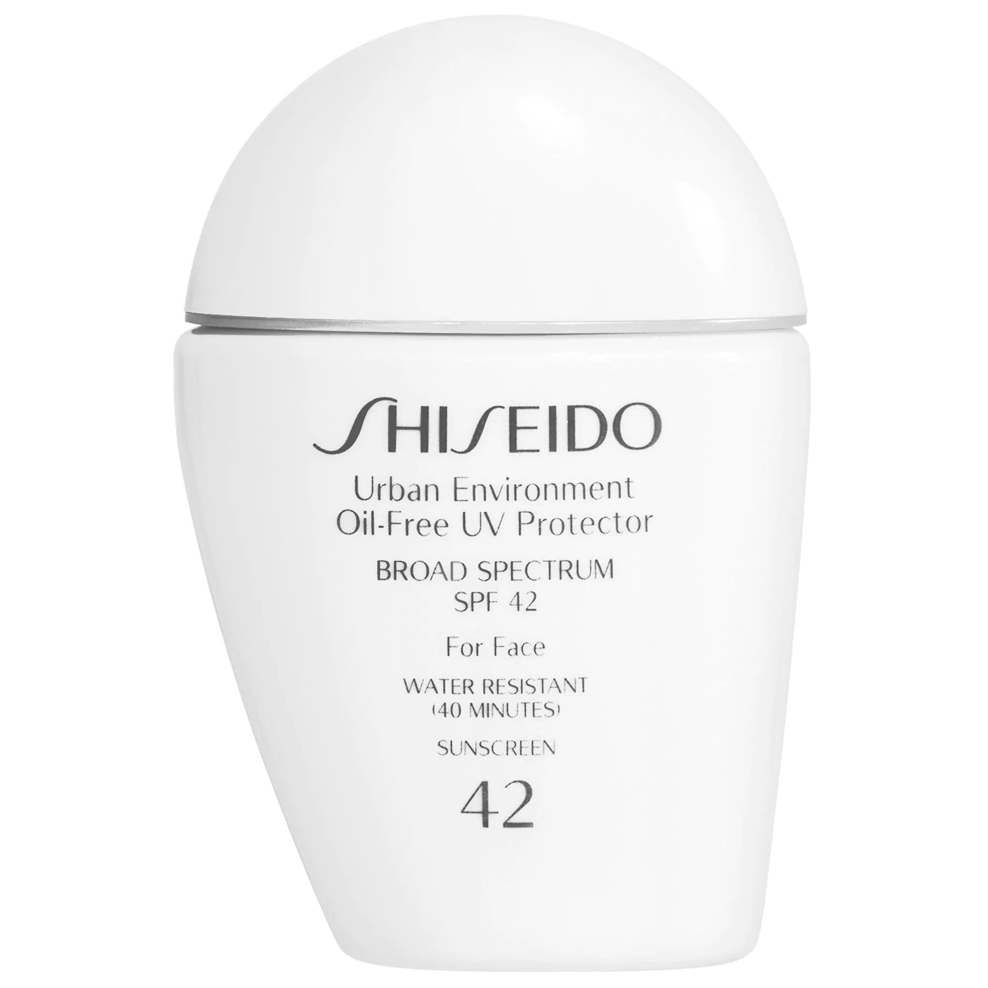 ihocon: ShiseidoUrban Environment Oil-Free UV Protector Broad Spectrum Face Sunscreen SPF 42 資生堂防曬霜