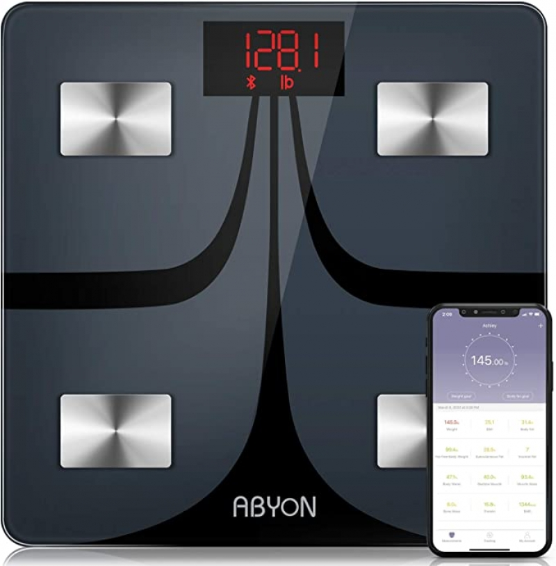 ihocon: ABYON Bluetooth Smart Bathroom Scales for BMR 藍牙智能體脂體重秤