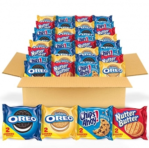 ihocon: OREO Original, OREO Golden, CHIPS AHOY! & Nutter Butter Cookie Snacks Variety Pack, 56 Snack Packs 綜合零食