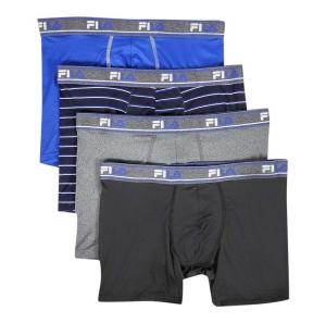 ihocon: Fila Men's 4 Pack Poly-Mesh Boxer Briefs with Fly  男士平角內褲 4件