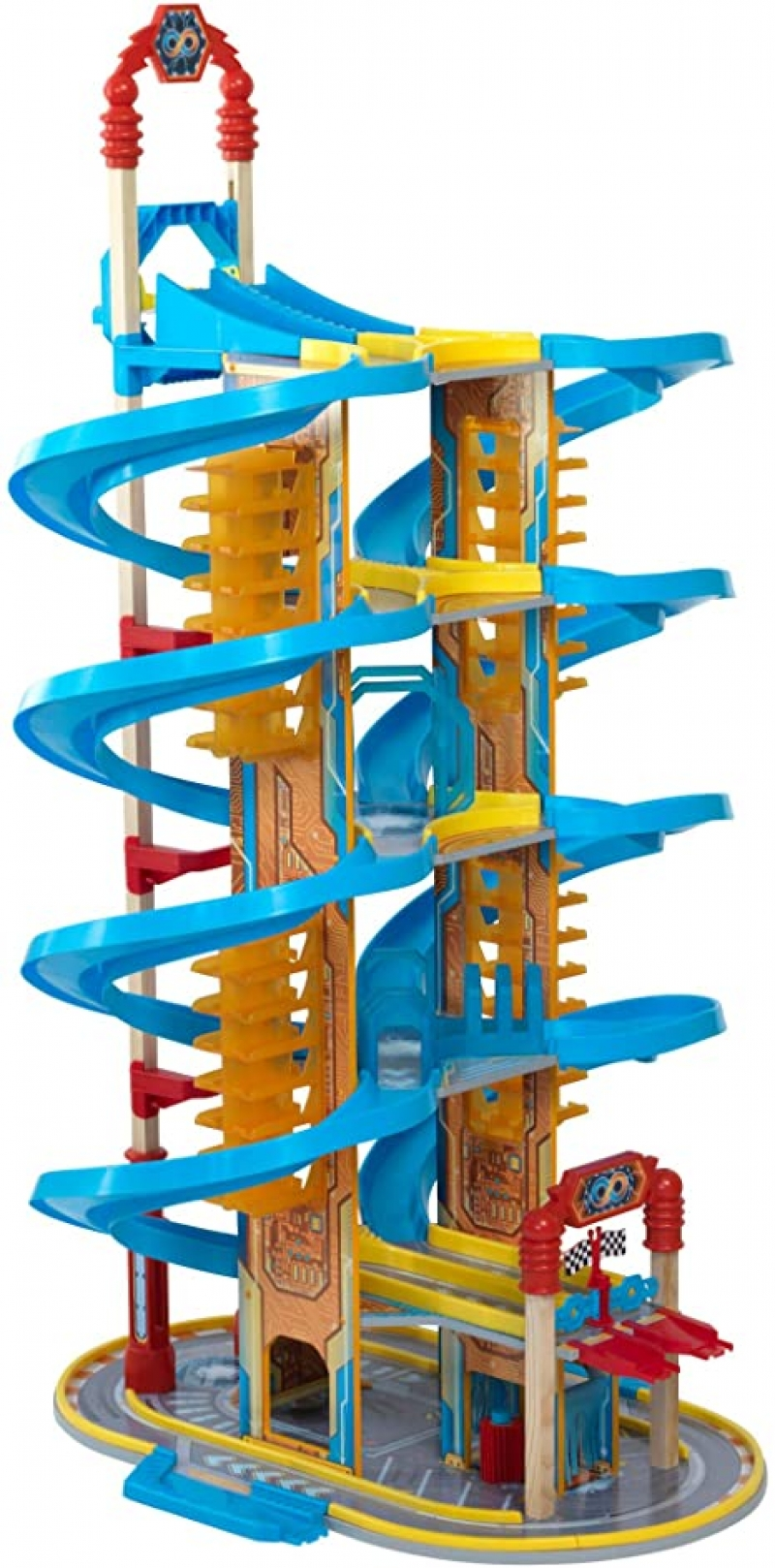 ihocon: KidKraft Super Vortex Racing Tower 超級螺旋賽車塔
