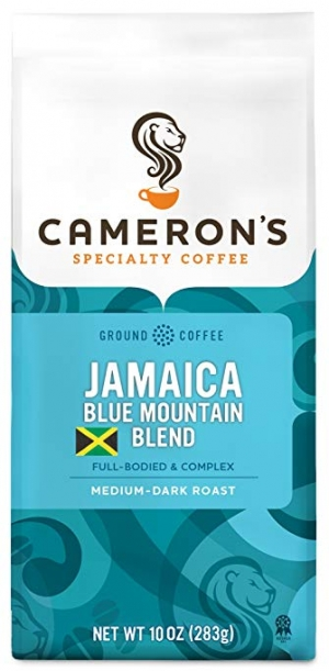 ihocon: Cameron's Coffee Roasted Ground Coffee Bag, Jamaican Blue Mountain Blend, 10 Ounce 牙買加藍山研磨咖啡袋