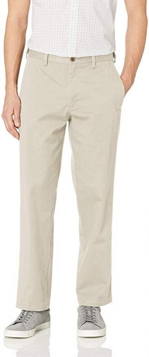 ihocon: Haggar Men's Premium Comfort Khaki Flat Front Classic Fit Pant 男士長褲