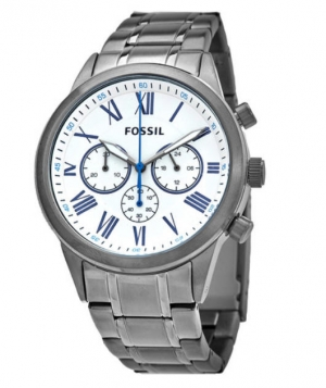 ihocon: Fossil Flynn Chronograph Quartz White Dial Men's Watch 男錶