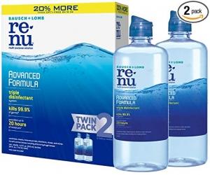 ihocon: Bausch + Lomb renu Lens Solution Advanced Triple Disinfect Formula Multi-Purpose, 12 Ounce Bottle Twinpack 隱型眼鏡藥水