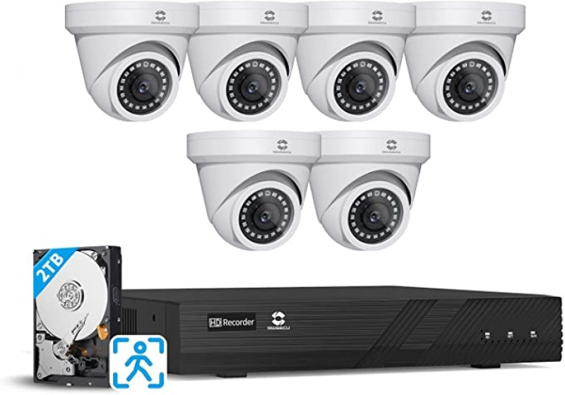 ihocon: Gwsecu 8-Channel 6-Camera Security System for Home Business 24/7 Audio Recording 居家安全監視系統