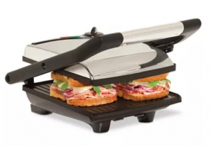 ihocon: Bella Stainless Steel Non-Stick Panini Press Sandwich Maker 不銹鋼三明治機