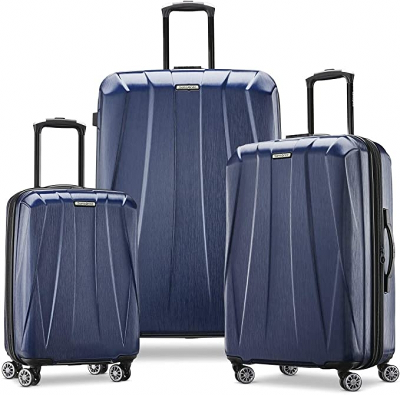 ihocon: Samsonite Centric 2 Hardside Expandable Luggage with Spinner Wheels, True Navy, 3-Piece Set (20/24/28)硬殼行李箱