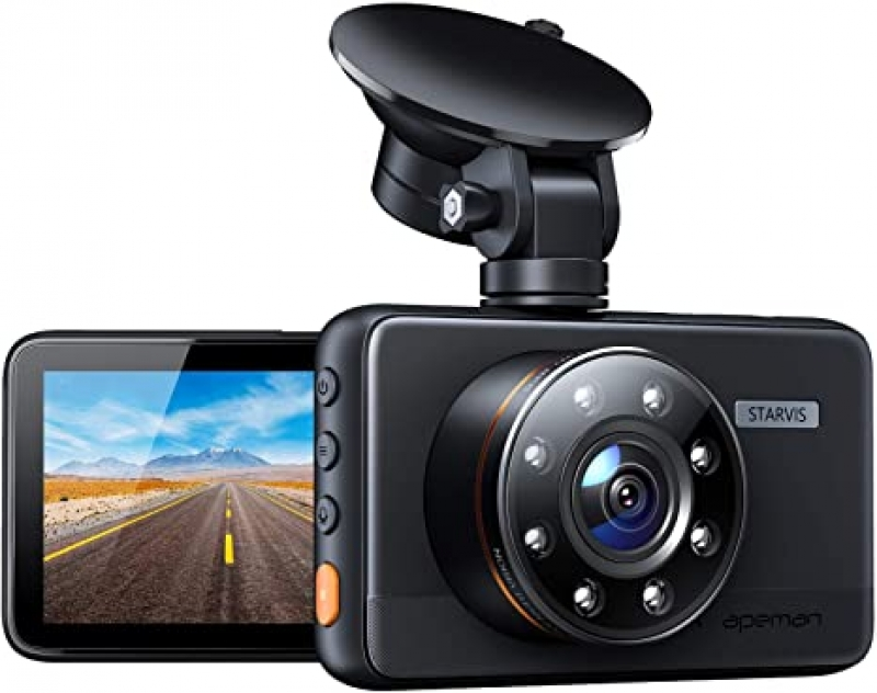 ihocon: Apeman 1080P FHD Dash Cam with IR Night Vision, Loop Recording, G-Sensor, 170 deg.Wide Angle, Parking Monitor, WDR 行車記錄器