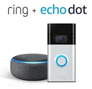 ihocon: All-new Ring Video Doorbell, Satin Nickel (2nd Gen) with Echo Dot