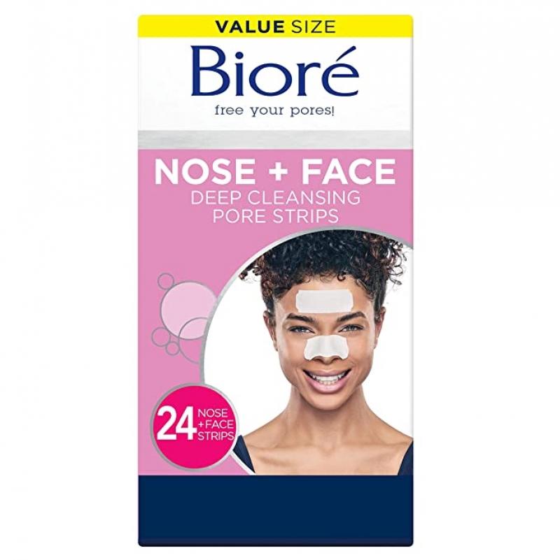ihocon: Biore Blackhead Removing and Pore Unclogging Deep Cleansing Pore Strip (12 Nose + 12 Face Strips)去黑頭貼片