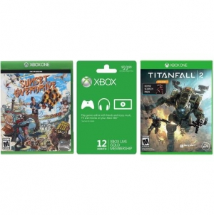 ihocon: Microsoft Xbox LIVE 12 Month Gold Membership + Titanfall 2 for Xbox One + Sunset Overdrive for Xbox One