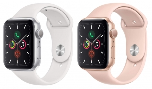 ihocon: Apple Watch Series 5 (GPS, 40mm) - Gold Aluminum Case with Pink Sport Band