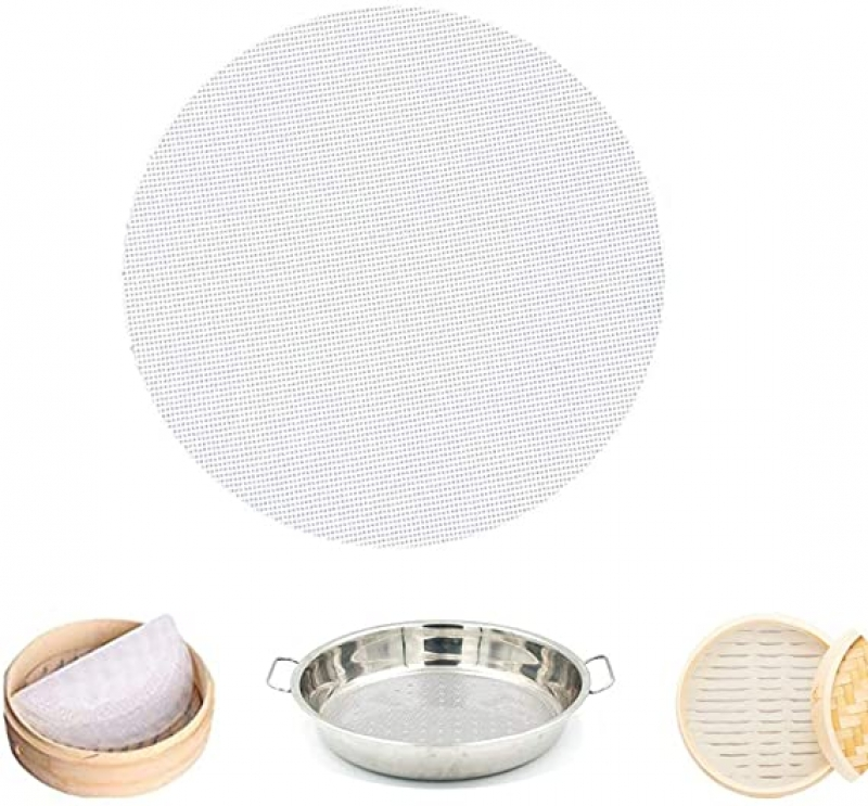 ihocon: Mutochy 4Pcs 10inch Non-Stick Silicone Steamer Mesh 矽膠不粘蒸籠墊