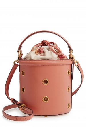 ihocon: COACH Grommet Leather Drawstring Bucket Bag 皮革水桶包
