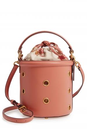 ihocon: COACH Grommet Leather Drawstring Bucket Bag 皮革水桶包