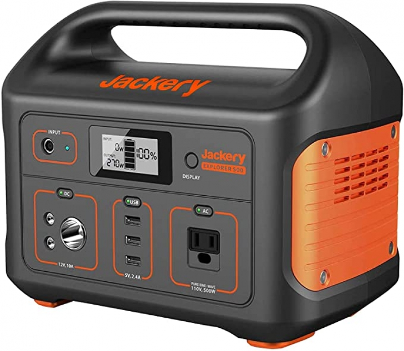 ihocon: Jackery Portable Power Station Explorer 500 Solar-Ready Generator with 110V/500W AC Outlet 便攜儲電器/行動電源