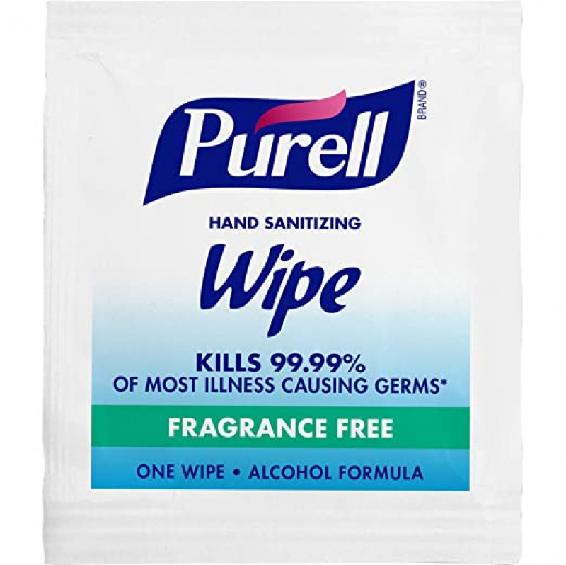 ihocon: PURELL Hand Sanitizing Wipes Alcohol Formula, Fragrance Free, 1000 Packets 隨身便攜手消毒濕巾