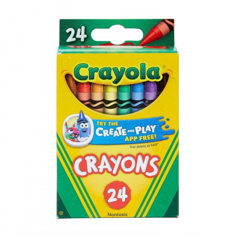 ihocon: Crayola Crayons, 24/Box 蠟筆