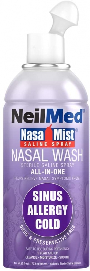 ihocon: Neil Med Nasa Mist Multi Purpose Saline Spray All in One, 6.0 ounces Unit 生理食鹽水鼻噴霧