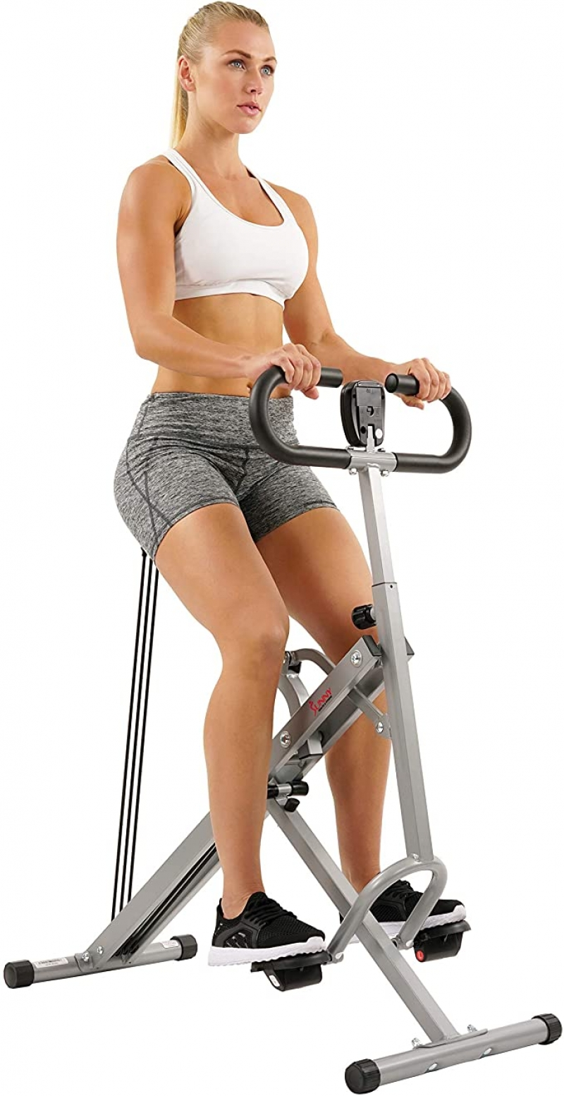 ihocon: Sunny Health & Fitness Squat Assist Row-N-Ride Trainer for Glutes Workout with Training Video  運動健身器材