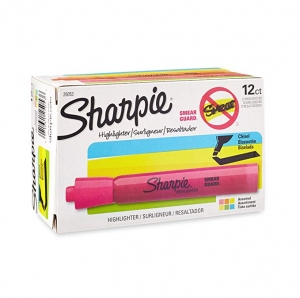 ihocon: Sharpie Tank Style Highlighters, Chisel Tip, Assorted, Box of 12 熒光筆