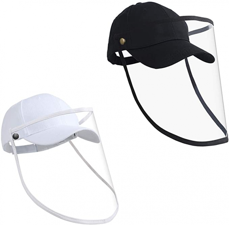 ihocon: LEACOOLKEY Sun Cap with Removable Shield, 2 Pack 可拆式面部防護棒球帽
