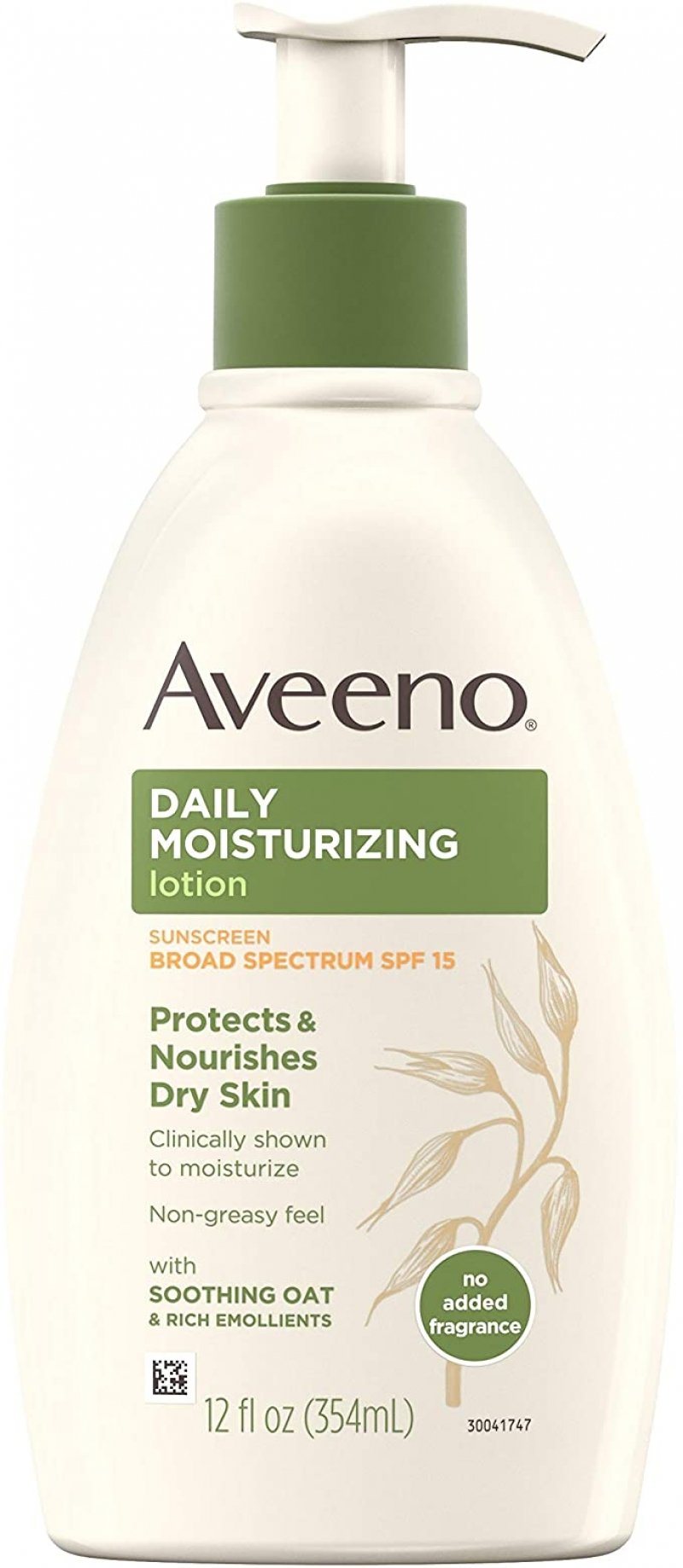 ihocon: Aveeno Daily Moisturizing Body Lotion with Broad Spectrum SPF 15 Sunscreen, 12 fl. oz 保濕乳