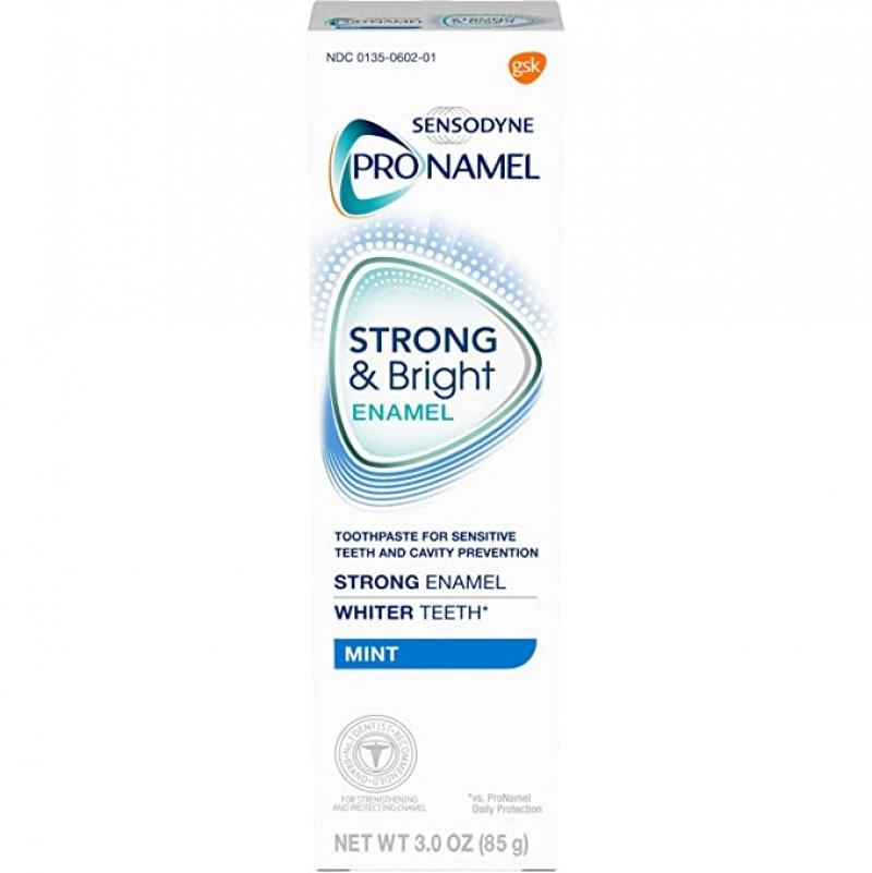 ihocon: PRONAMEL Sensodyne Pronamel Strong and Bright Enamel Toothpaste for Sensitive Teeth, to Reharden and Strengthen Enamel, Mint - 3 Ounces 敏感齒牙釉強化牙膏