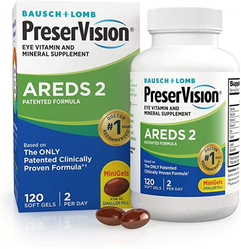 ihocon: PreserVision AREDS 2 Eye Vitamin & Mineral Supplement, Contains Lutein, Vitamin C, Zeaxanthin, Zinc & Vitamin E, 120 Softgels 視力保健維他命