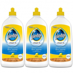 ihocon: Pledge Gentle Wood Floor Cleaner, Lemon, 27 fl oz, 3 ct 木地板清潔劑