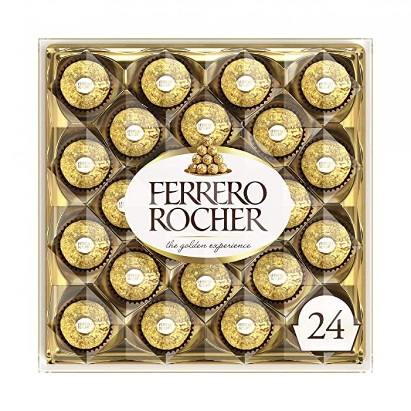 ihocon: Ferrero Rocher Fine Hazelnut Milk Chocolate, 24 Count