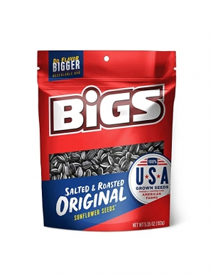 ihocon: BIGS Original Salted & Roasted Sunflower Seeds, 5.35-Ounce Bags (Pack of 12) 葵瓜子
