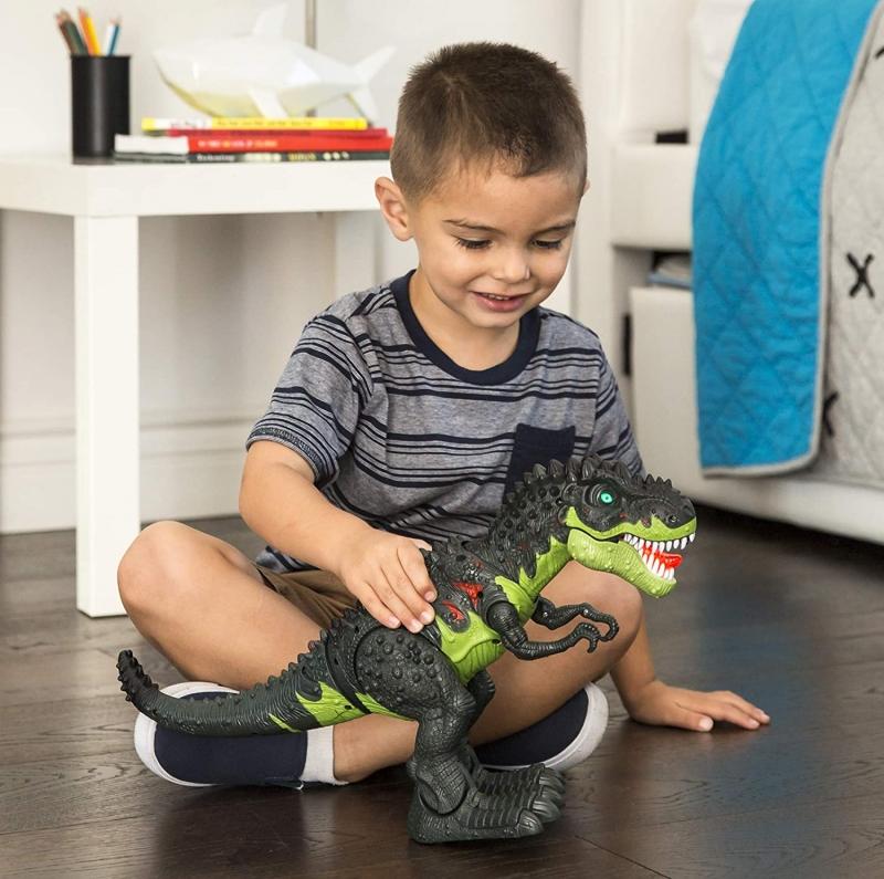 ihocon: Best Choice Products Kids Walking Tyrannosaurus Rex T-Rex Jurassic Dinosaur Toy w/ Lights, Sound, Realistic Movement 霸王龍(俱聲光效果, 走動)