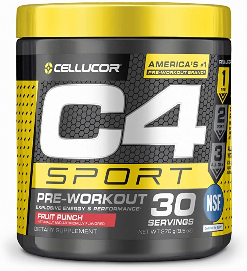 ihocon: C4 Sport Pre Workout Powder Fruit Punch - NSF Certified for Sport + Sugar Free Preworkout Energy Supplement, 30 Servings