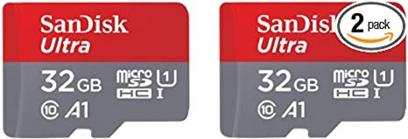 ihocon: SanDisk 32GB 2-Pack Ultra MicroSDHC UHS-I Memory Card 記憶卡