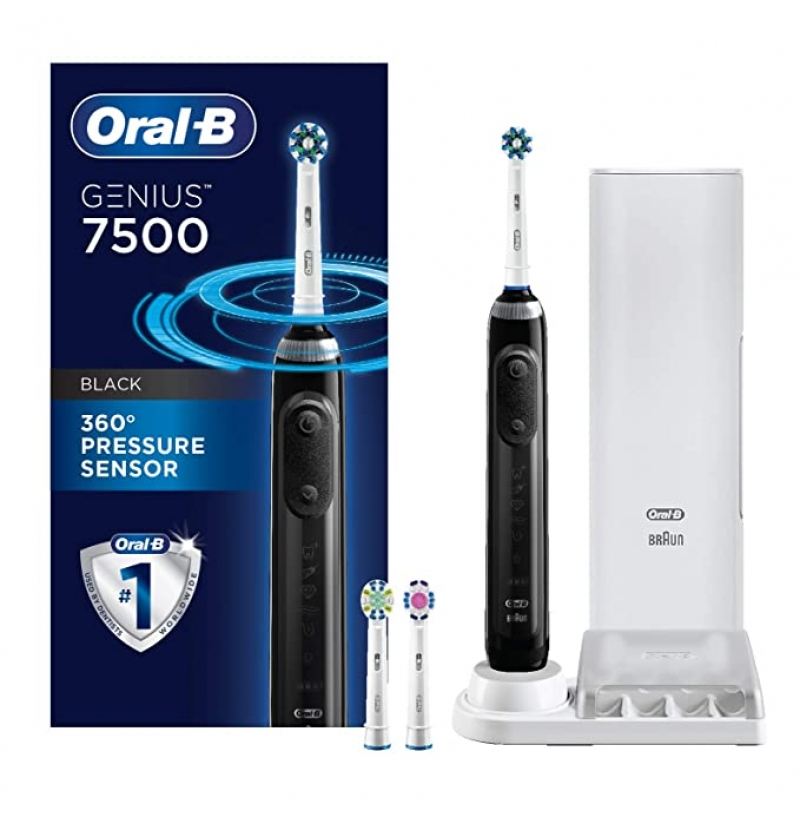 ihocon: Oral-B 7500 Power Rechargeable Electric Toothbrush with Replacement Brush Heads and Travel Case充電電動牙刷,含替換刷頭及旅行盒