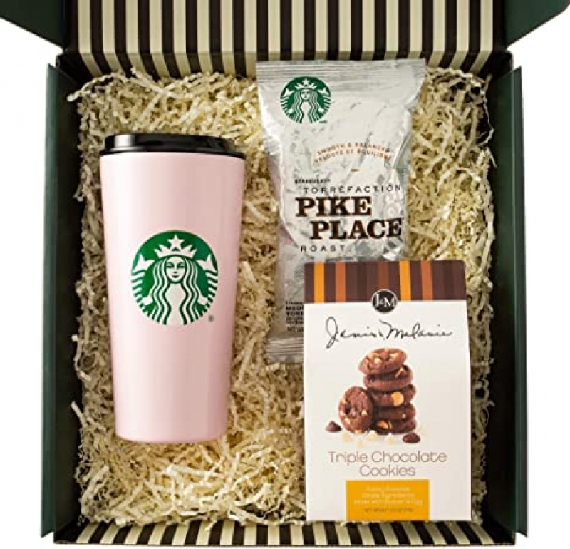 ihocon: Starbucks Thank You Gift Box with Greeting Card 星巴克禮盒, 含卡片