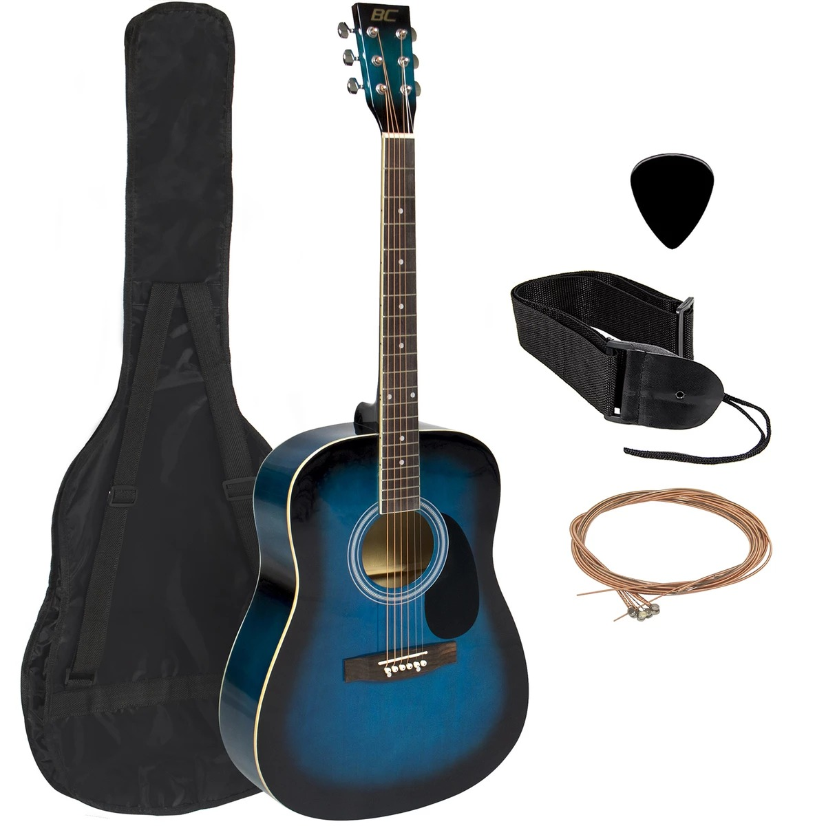 ihocon: Best Choice Products 41in Acoustic Guitar Starter Kit w/ Case, Pick, Strap, Extra Strings 民謠吉他, 含保護套, 撥片, 背帶和額外琴弦