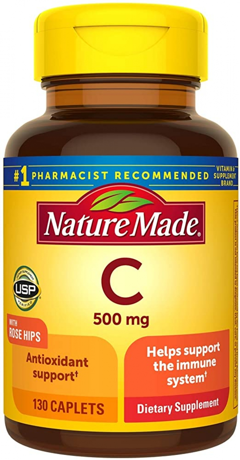 ihocon: Nature Made Vitamin C 500 mg Caplets with Rose Hips, 130 Count