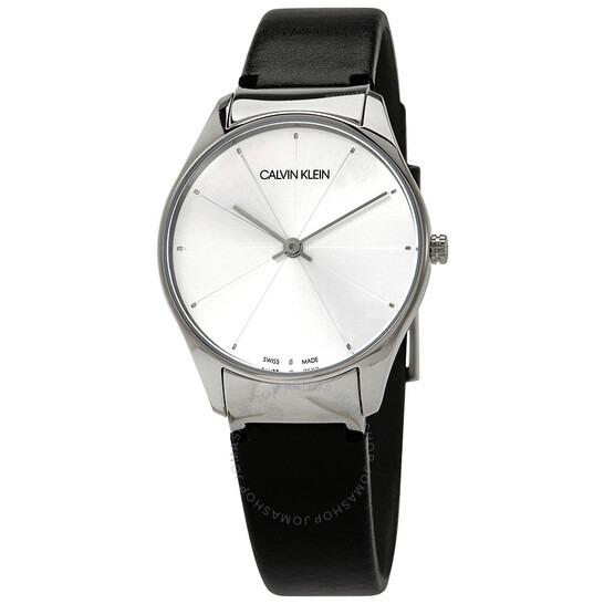 ihocon: Calvin Klein Classic Quartz Silver Dial Ladies Watch K4D221C6 女錶